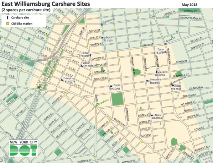 City Reserving Dozens of Parking Spots in Williamsburg For Citywide on